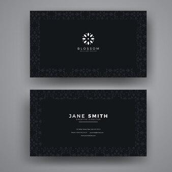 Cartão de visita de luxo padrão sem emenda
