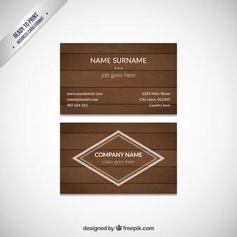 Cartão de visita de madeira