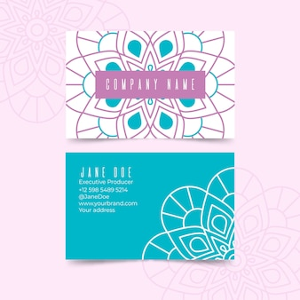 Cartão de visita de mandala