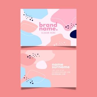 Cartão de visita de marca em tons pastel