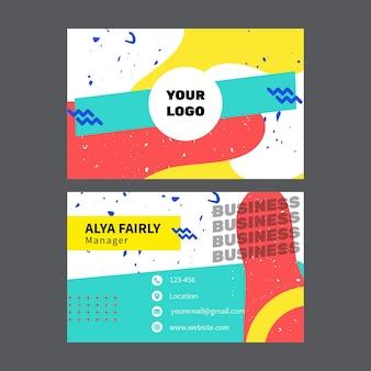 Cartão de visita de marketing