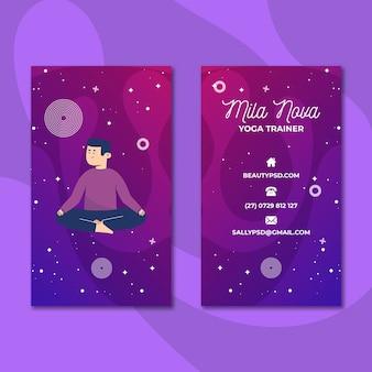 Cartão de visita de meditação e atenção plena