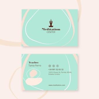 Cartão de visita de meditação
