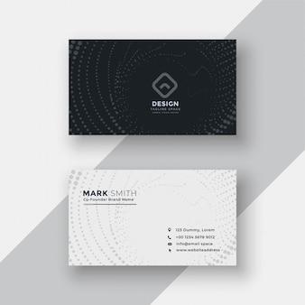 Cartão de visita de meio-tom preto e branco