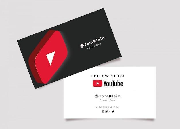 Cartão de visita de mídia social 3d