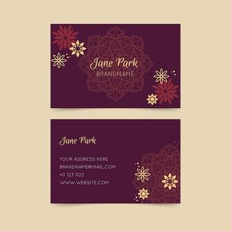 Cartão de visita de modelo de luxo