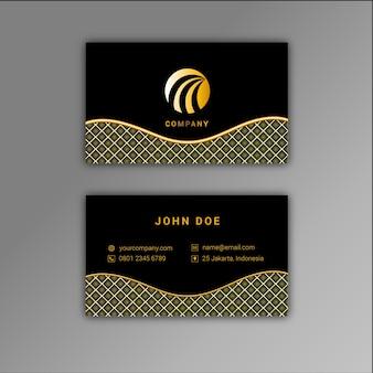 Cartão de visita de ouro e preto