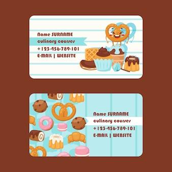 Cartão de visita de padaria ou pastelaria