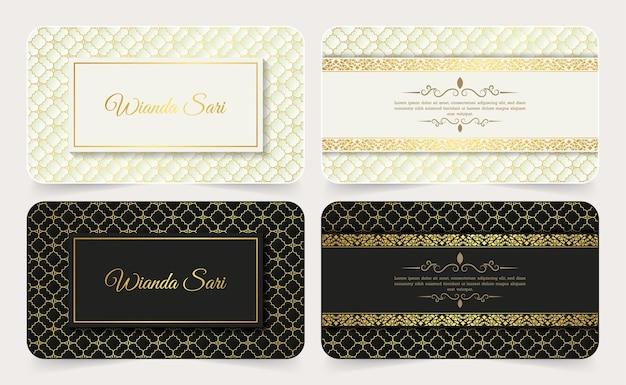 Cartão de visita de padrão decorativo de luxo