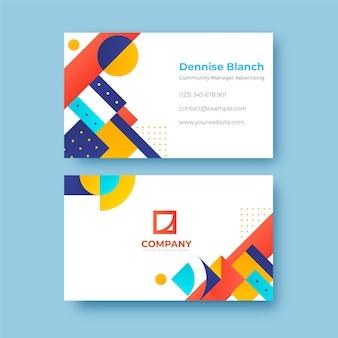 Cartão de visita de publicidade de gerente de comunidade moderno e minimalista