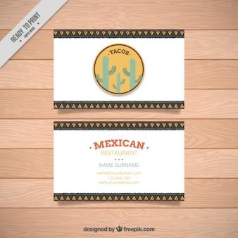 Cartão de visita de restaurante mexicano