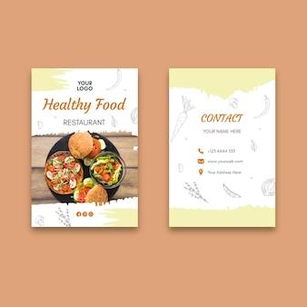 Cartão de visita de restaurante saudável