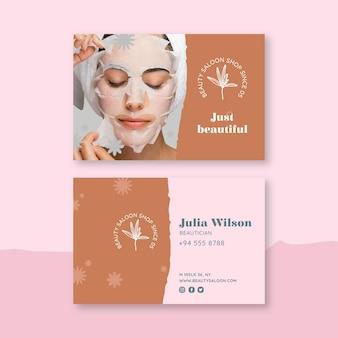 Cartão de visita de salão de beleza e saúde