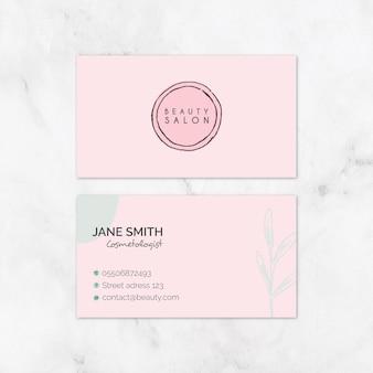Cartão de visita de salão de beleza