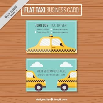 Cartão de visita de táxi bonito