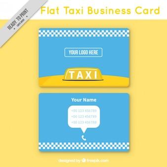 Cartão de visita de táxi flat, estilo minimalista