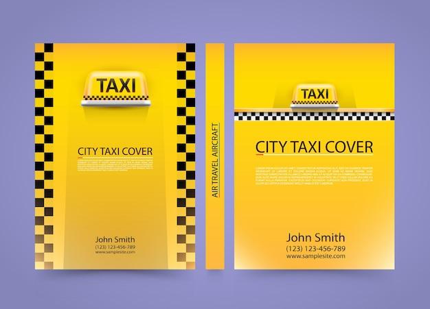 Cartão de visita de táxi, fundo de cobertura de tráfego, papel tamanho a4, ilustração vetorial