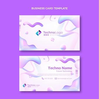 Cartão de visita de tecnologia de textura gradiente horizontal