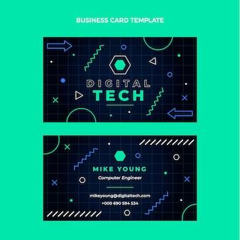 Cartão de visita de tecnologia mínima de design plano
