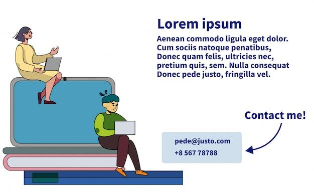 Cartão de visita de treinamento pessoal com contatos