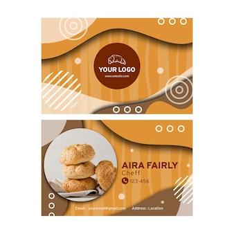 Cartão de visita de venda de pão