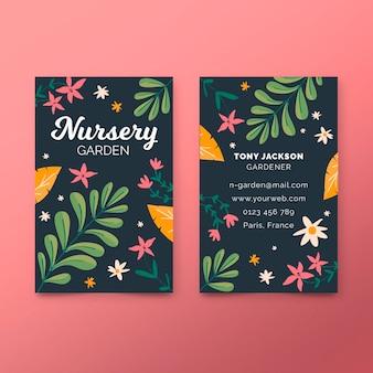 Cartão de visita de venda de primavera