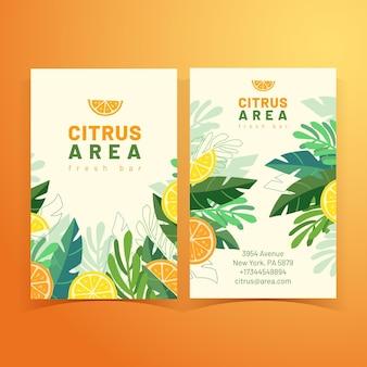 Cartão de visita de verão tropical