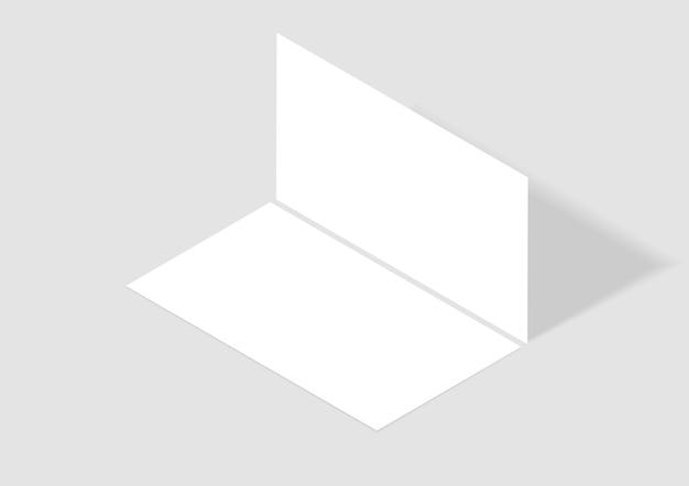 Cartão de visita de vetor simulado modelo