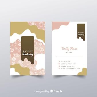 Cartão de visita desenhada de mão