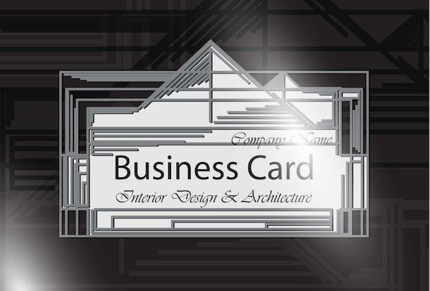 Cartão de visita design de interiores e arquitetura.