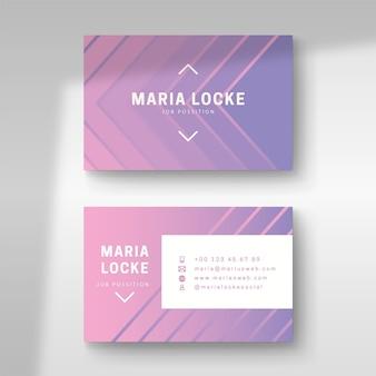 Cartão de visita design gradiente pastel