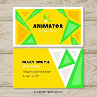 Cartão de visita do animador