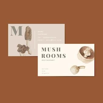 Cartão de visita do cogumelo