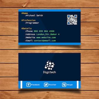 Cartão de visita do desenvolvedor
