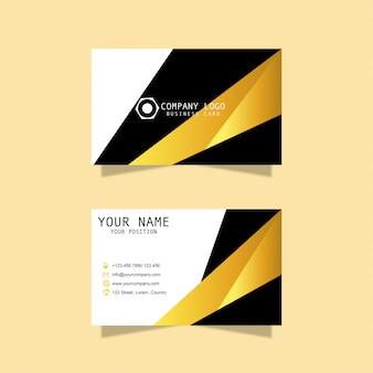 Cartão de visita do design moderno