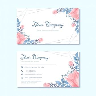 Cartão de visita do florista