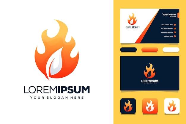 Cartão de visita do modelo de logotipo laef fire