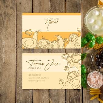 Cartão de visita do restaurante