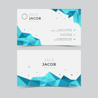 Cartão de visita do triângulo do gelo