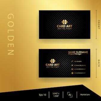 Cartão de visita dourado moderno