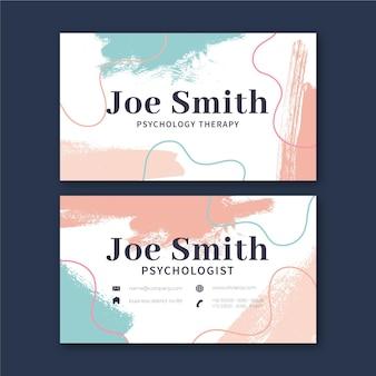Cartão de visita dupla-face da psicologia h