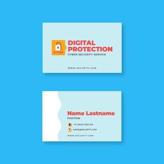 Cartão de visita dupla-face da segurança cibernética