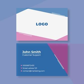Cartão de visita dupla face de marketing empresarial