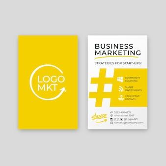 Cartão de visita dupla-face de marketing empresarial