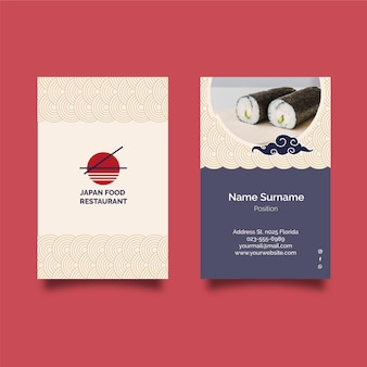 Cartão de visita dupla-face de restaurante japonês