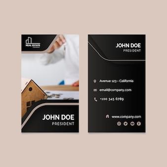 Cartão de visita dupla face imobiliário