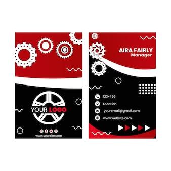 Cartão de visita dupla-face mecânico