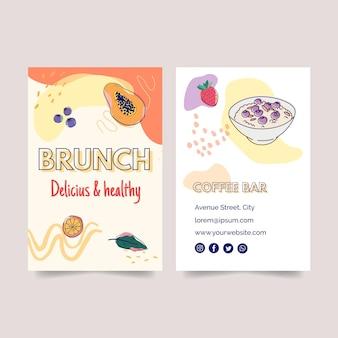 Cartão de visita dupla-face para brunch