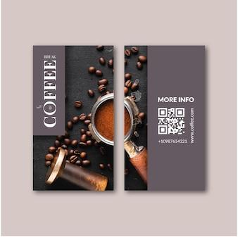 Cartão de visita dupla face para café