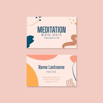 Cartão de visita dupla face para meditação e atenção plena